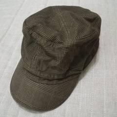 moussyマウジー グレンチェック柄ワークキャップ 千鳥柄 帽子