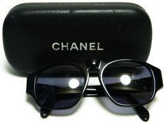 CHANEL シャネル サングラス 黒 CCマーク 01452・94305