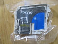 インジェクトプリンターインク EPSON ICC23(シアン) 新品!�A