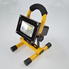 特価 20W LED 充電式ポータブル投光器 IP65防水仕様(イエロー)