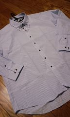 NEW!EXSTYLEボタンダウンストライプYシャツ ビジネスYシャツ 5L→XXL2XL �J