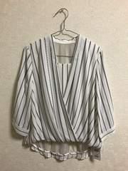 *新品*INGNI カシュクール7分袖 ストライプシャツ