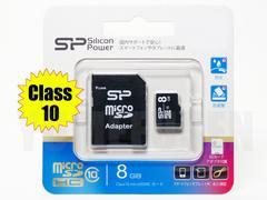国内正規品 Class10 microSDHC 8GB マイクロSDHC SDアダ付き シリコンパワー