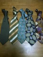 シルク絹ネクタイ5本激安まとめ売り福袋Hスーツ