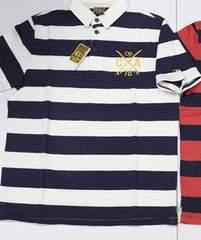 オーシャンパシフィックポロシャツM-XL白×紺◆サーフSTUSSY系
