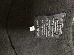 スパンコール使いプリント半袖TシャツサイズL