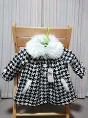 ラス1★半額sale新品★ブーミールーミー★千鳥格子コート80cm