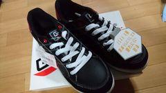 送料込☆グロウキックス安全靴【耐油、黒】28cm