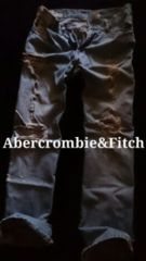 【Abercrombie&Fitch】Vintage Destroyed ストレートジーンズ 32/L.Wash