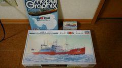 新品未使用品!!南極観測船プラモ[宗谷]+カラーセット