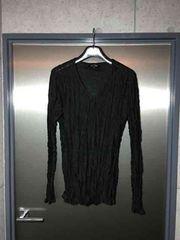 5351プールオム/シワ加工長袖カットソーTシャツ/ブラック2