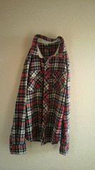 チェックシャツ羽織赤系