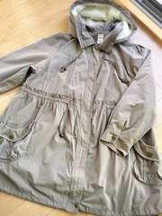 大きいサイズ5L6L胸下切り替えでスッキリ可愛いモッズコート
