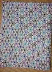 彩り麻の葉文様(青)【和柄】綿100%シーチング生地1m日本伝統