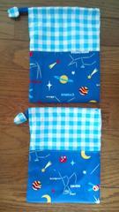 ハンドメイドコップ袋2枚組宇宙柄/星座