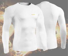 EXIO 防寒 ラウンドネックインナーシャツ ホワイト M