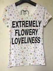 N2m TRALALA 半袖 Tシャツ トゥララ F 白×花柄