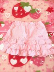 メゾピアノ☆姫系ふりふりスカート☆キラキラ☆ピンク☆130
