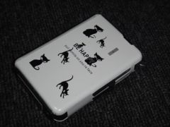 手袋OK シガレットケース ターボライター内蔵 Be Happy 猫