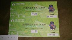 京都鉄道博物館 入館券(一般券・2枚セット)