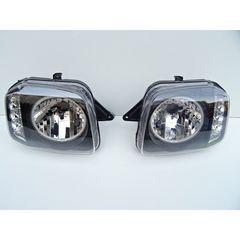 スズキ ジムニー JB23 LEDイカリングヘッドライト インナーブラック  LEDウインカー