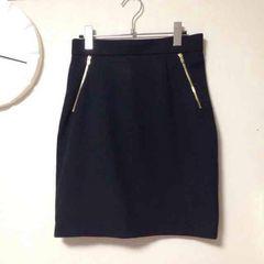 H&M /ファスナータイトスカート/ブラック