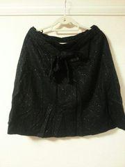 冬物*大きいサイズ◆ツィードラメスカート◆3L◆ブラックラメ◆新品