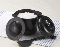 送料無料 新品 電子レンジ専用炊飯器 備長炭ちびくろちゃん2合炊き