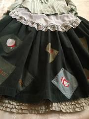 PHクリスマスに☆レアサンタ刺繍ワッペン付きスカート♪グリーン