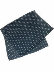 新品★ドット柄シフォンスカーフ ブラックxホワイト ロングストールヘッドアクセターバン紫外線UV