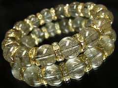財運招来!!ブラックルチル12ミリ数珠ブレスレット