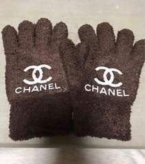 ふわもこ手袋  ブラウン