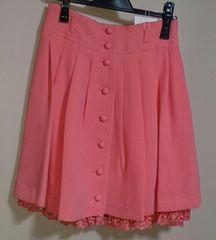 新品 レストローズ 裾レース ふんわり可愛いスカート ピンク