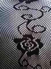 エロ過ぎッ!殿方様ムラムラ♪激エロな薔薇柄網タイツ♪