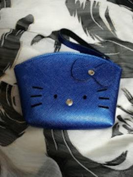 モバオクで買える「キティ★合皮ポーチ★小銭入れ★シャインブルー★」の画像です。価格は510円になります。