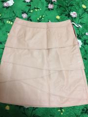 新品:SOUP:合成皮革:スカート