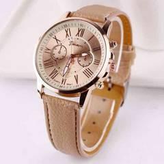 【送料無料】最安値!☆オシャレ 腕時計☆うっとりキャメル