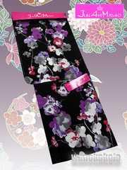【和の志】ブランド浴衣◇JAM◇黒系・梅の花柄◇JAM-10