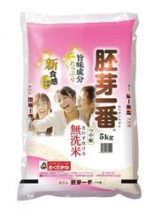 無洗米つや姫 食物繊維が生きてるお米 胚芽一番 5kg