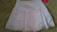 新品未使用 Pinky Girls 薄ピンク 裾レーススカート