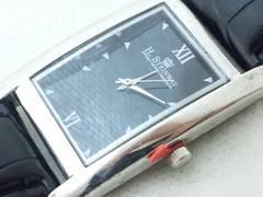 2593復活祭★H.STEINWAY☆未使用品クラシカルメンズ腕時計スクエアケース