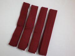 着物&振袖成人式・浴衣に カラー腰紐(こしひも)4本セットエンジ
