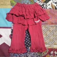 キッズPINK HOUSE/ピンクハウス赤フリル スカート一体型 レギンス 85〜95�p