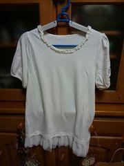 ☆&LOVE・QVC☆ハピキューセット半袖Tシャツ・白☆