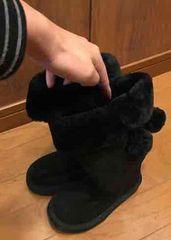 新品タグ付き ZARA キッズ girl ブーツ 靴 黒 ブラック \5990