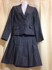 インディビ スカートスーツ美品 36 グレーカラー