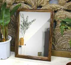 チーク古材ミラー 姿見 鏡 全身鏡 アンティークインテリア