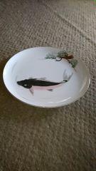 有田焼き白磁鯉絵皿
