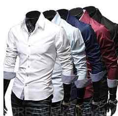 【新品】メンズ ボタンシャツ 長袖 Lサイズ ネイビー