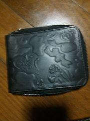 ステューシー  財布  二つ折り  ブラック